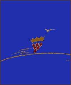 disegno vento colorato blu